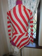 Stunning  All Saints Stripe Manila Cardigan Size 10 VGC