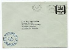 The Armouries H.M. Tower of London Cachet (Small) on Official paid envelope 1969