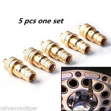 5pcs 4WD Universal Brass Off-Road Automatic Tyre Tire Deflators Set Kit 6-30 PSI