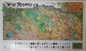 Vintage Map of McLaren Vale Wine Region 1980's Laminated & Board Mounted
