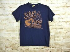 Ryan Auditorium Nashville Tennessee Guitar Graphic T Shirt Blue Womens Size S