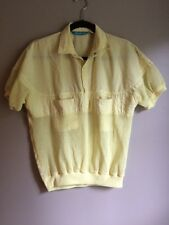 Men's Retro 70s 80s Mesh Elastic Bottom Snap Collar Shirt Royale Air Medium