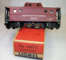 LIONEL POSTWAR HTF 6417 NO NEW YORK ZONE PENNSY ILLUMINATED CABOOSE EXC+ HTF OB
