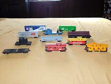 VINTAGE TOY  TRAINS 11 PLASTIC TRAINS LOT