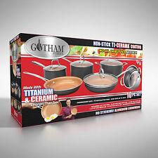 Gotham™ Steel Ti-Cerama™ 10-Piece Cookware Set New !