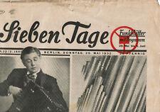 Seltene Zeitung - Sieben Tage - Funkblätter mit Programm #22 1932 Paul Hörbiger