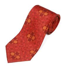 GUCCI Mod Red Orange Geometric Kaleidoscope Op Art Men's Silk Neck Tie
