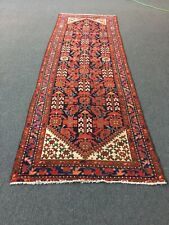 "Runner Malayerr Antique Hand Knotted Vintage Area Rug Geometric 3'3""x9'10"",#416"