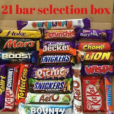 Huge 21 Bar Chocolate Gift Box Chocolate Hamper cadbury Kit kat chomp aero milk
