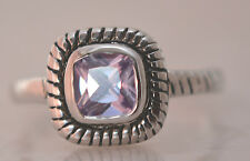 SQUARE ALEXANDRITE JUNE BIRTHSTONE RING  Genuine Sterling Silver.925 Size 6
