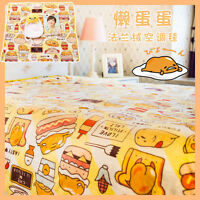 Cartoon Gudetama Flannel Blanket Kids Bed Sheets Office Air Conditioning Blanket