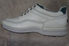 Rockport World Tour Classic Comfort Leather Lace-up ,color Ivory ,Walking shoes.