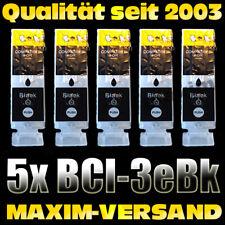 5 Cartridges Set for Canon BCI3eBK F60 F80 MP700 MP730 Pixma ip3000 ip3100
