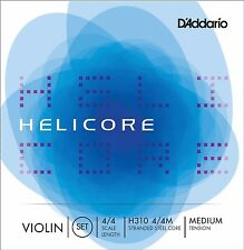 D'Addario Helicore Violin String Set 4/4 with Steel E String Medium Tension