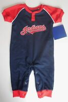 Cleveland Indians One Piece Bodysuit Blue Red 6-9 Months Baby New Outfit