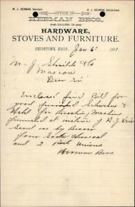 1891 Uniontown Washington (WA) Letter HERMAN BROS.,M. J. Shields & Co. Letter wi