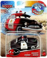 Pixar Cars Color Changers SHERIFF (2 In 1) Mattel Color Changing Car Rare