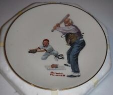 """Danbury Mint Norman Rockwell """"Batter Up"""" Collector Plate w/ Box"""