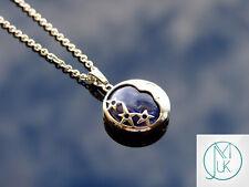 Sodalite Moon Natural Gemstone Pendant Necklace 50cm Healing Stone Chakra