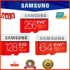 SAMSUNG EVO PLUS MICRO SD SDXC CARD 64GB 128GB 256GB ADAPTER 100MB CLASS 10