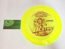 New Disc Golf Rare Innova Yellow Xl Champion 175g Destroyer Driver Big Stamp