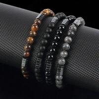 Fashion Natural Stone Beaded Men Women Elastic Yoga Beads Bracelets Jewelry Gift