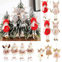 Christmas Angel Doll Toy Hanging Pendant Festival Ornament Xmas Tree Decoration