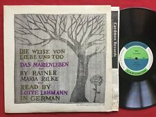 RAINER MARIA RILKE, DAS MARIENLEBEN, LOTTE LEHMANN  ~ CADEMON TC 1128 LP GERMAN
