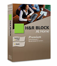 H&R Block At HomeTaxCut 2009 Premium 5 Fed e-file+State Edition NIB! self employ