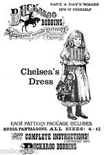 Buckaroo Bobbins Victorian Girl Chelsea's Dress & Pantaloons Sewing Pattern 4-12