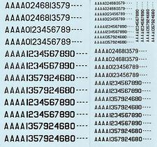 RAAF Decals A Numbers Black 1/72, 1/48, 1/32 Scale N701