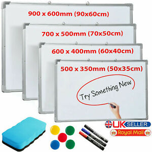 LARGE DRY WIPE MAGNETIC WHITEBOARD OFFICE SCHOOL HOME NOTIC DRAWING BOARD UK