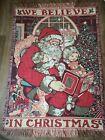 VINTAGE * Heavy Tapestry Christmas Throw Blanket Santa Claus w/ Presents