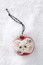 Anthropologie Pomme Ornament Red Apple Christmas Holiday Tree Decor