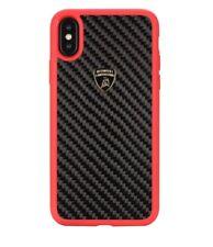 Lamborghini Elemento-D3 Carbon Fiber Back Cover Case for iPhone X-Red