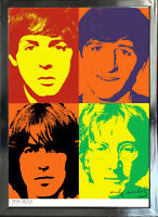 """Andy Warhol Signed/Hand-Numbered Beatles Litho Print - 17""""x22"""" (unframed) -01015"""