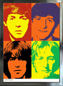 "Andy Warhol Signed/Hand-Numbered Beatles Litho Print - 17""x22"" (unframed) -01015"