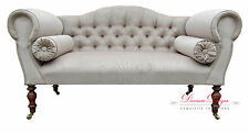 Gorgeous Bespoke Caramel Velvet Double Ended Chaise Sofa
