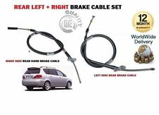 FOR TOYOTA AVENSIS VERSO 2001-2006 NEW LEFT + RIGHT 2x REAR HAND BRAKE CABLE SET