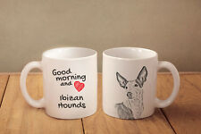 """Podenco Ibicenco - ein Becher """"Good Morning and love"""" Subli Dog, AT"""