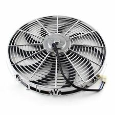 High Performance Chrome 16inch Thermo Fan Electric Fan Kit 220watt 12volt  f2