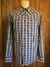 vtg LEVIS western COWBOY shirt LARGE 40 chest SLIM FIT red tab HIPSTER vgc