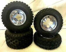 Itp Holeshot Tires Dwt A5 Polished Rims Front/Rear Yamaha Yfz450 Banshee Raptor
