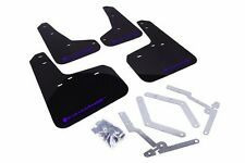 Rally Armor UR Black Mud Flap w/ Blue Logo For 2012+ Ford Focus ST/SE/Ti/RS