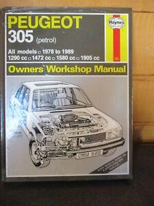 538 Haynes Manual Peugeot 305 Petrol 1978-1989 1290cc 1472cc 1580cc 1905cc
