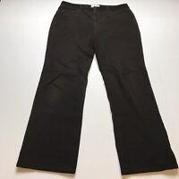 Talbots Size 10P Brown Corduroy Bootcut Pants A1660