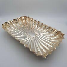 More details for antique edwardian vintage sterling silver tray fenton bros ltd 1905
