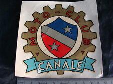 DECAL TRASFERIBILE MOTO CLUB CANALE (PIEMONTE ITALY) OLD SCOOTER VESPA LAMBRETTA