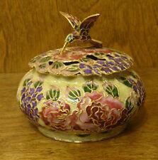 Victorian Treasures #A23-3 HUMMINGBIRD JAR, Beige, NEW from Retail Shop