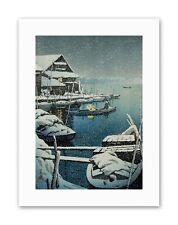 SNOW Lake mukaijima mammari hasui Japan PITTURA STAMPE SU TELA ART